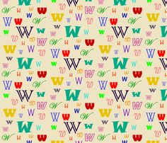 Initially_W fabric by lesleyclover-brown on Spoonflower - custom fabric