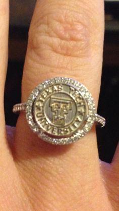 Texas Tech graduation ring