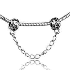 Pugster Bead Chain Linked Antique Finished Pewter Lock European Charm Bead Fits Pandora Bracelet Pugster. $5.29. Hole size is approximately 4.8 to 5mm. Pugster are adding new designs all the time. Fit Pandora, Biagi, and Chamilia Charm Bead Bracelets. Unthreaded European story bracelet design. Measures 9mm X 14mm. Save 58%!