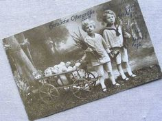 Postcard ドイツ アンティーク ヴィンテージポストカード 二人の少年 インテリア 雑貨 家具 Antique ¥240yen 〆05月23日