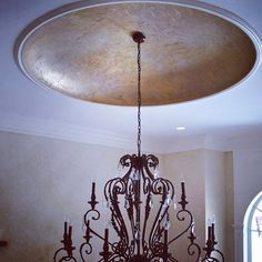 Dome Ceiling with Tissue Paper Treatment finished with Modern Masters Metallic Paints | Project by Arlene McLoughlin