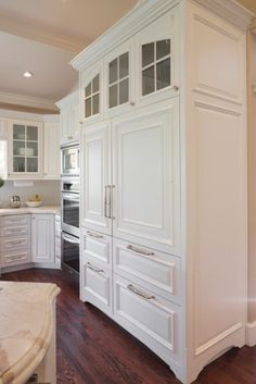 Gorgeous cabinetry from Barton Woodworks in Salt Lake City. Refrigerator Panels, Refrigerator Cabinet, Subzero Refrigerator, Refrigerator Freezer, Built In Refrigerator, New Kitchen, Kitchen Decor, Kitchen Ideas, 1950s Kitchen