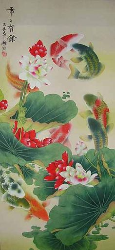 Chinese Carp Painting - This is an Original Painting