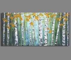 abstract painting landscape painting birch by SageMountainStudio, $289.00
