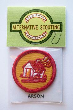 Alternative Scouting Merit Badges - ARSON