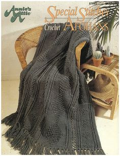 Special Stitches Crochet Afghans Pattern Leaflet - $3.00