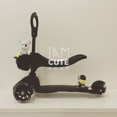 3 in1 Children scooter with adjustable height handle and light up wheels