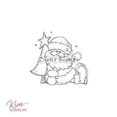 Kim's Digi Stamp - Santa Sitting