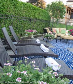 Creating an Outdoor Living Area {our pool} + Mohawk Rug Giveaway - Four Generations One Roof