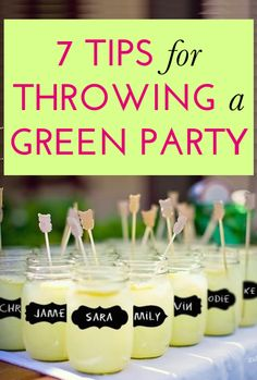 How to throw an earth-friendly party
