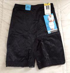 New Flexees Firm Control Instant Slimmer Black Girdle Panties Flattens Tummy - L #Flexees #Girdle