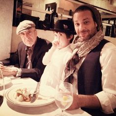 Leonard, with son Adam, with his grandson in the middle. Adorable picture! ^_^