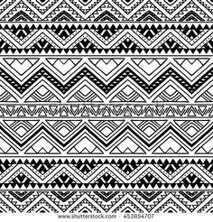 Hand drawn seamless pattern with tribal aztec ornament. Ethnic stylized print template for fabric and paper. Mandala Art Lesson, Mandala Drawing, Textile Pattern Design, Abstract Pattern, Pattern Fabric, Viking Symbols, Mayan Symbols, Egyptian Symbols, Viking Runes