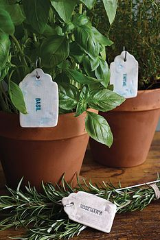 Ceramic Herb And Vegetable Labels - gardener Garden Labels, Plant Labels, Garden Art, Garden Tools, Garden Plant Markers, Cactus, Identify Plant, Classic Garden, Perfect Plants