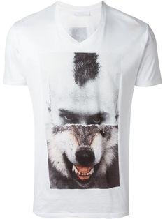 NEIL BARRETT Split Portrait T-Shirt. #neilbarrett #cloth #t-shirt