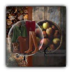 """""""Apple Picking"""" by renna-ravenwood ❤ liked on Polyvore featuring AG Adriano Goldschmied, Trilogy, Dolce&Gabbana, Gottex, Breckelle's and Emi Jewellery"""