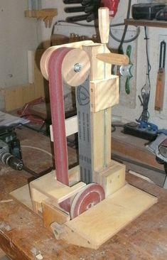 Belt and Disk Sander #WoodworkingTools