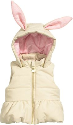 H&M - Padded Vest - Light beige - Kids