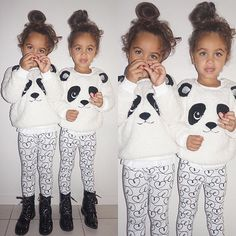 Little Pandas  Winter clothes make my heart happy, so snuggly!