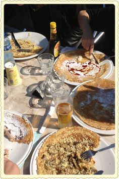 Enormous, paper-thin pancakes called pannekoeken are a ubiquitous Amsterdam treat.