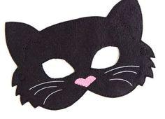 Enfants chat masque Costume de chat noir feutre par BabyWhatKnots                                                                                                                                                                                 More
