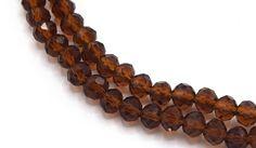 20 Perles à Facettes Cristal Verre octogonale rouge rubis 4x3mm PFO014 : Perles en Cristal, Swarovski® par creatistshop