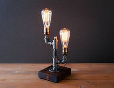 Edison lamp/Rustic decor/Table lamp/Industrial lamp/Steampunk