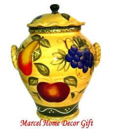 Fruit Tuscany Decor Kitchen Cookie Jar Canister By Marcel Imports,  Http://www