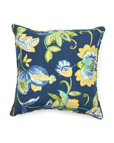 Image Of 17in Floral Outdoor Pillow