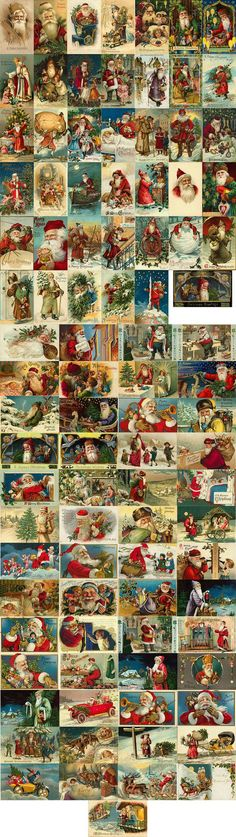 Vintage Victorian Santa Graphics
