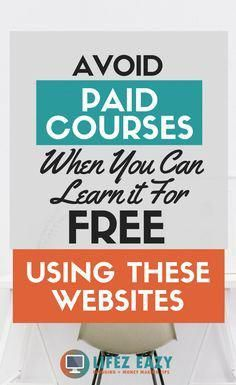 11 Best Educational Websites For Taking Online Courses Lifez Eazy - Online Courses - Ideas of Online Courses - Learn a new skill language or take a course using these websites for FREE. Dont waste your money on paid courses when you can learn it for free. Affiliate Marketing, Content Marketing, Online Marketing, Best Educational Websites, Cool Websites, Online Websites, Free Learning Websites, Learning Logo, Learning Courses