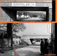 Confini amministrativi - Riigipiirid - Political borders - 国境 - 边界: 1947 IT-YU Itaalia-Jugoslaavia Italia-Iugoslavia Siena, Nova, Politics, Italy, Italia