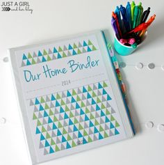 Our Home Binder: A Tour {with FREE printables!} She has awesome printables to help you organize all your household needs!