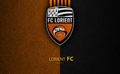 Download wallpapers FC Lorient, French football club, 4k, Ligue 2, leather texture, logo, Lorient, France, second division, football