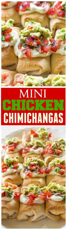 Mini Chicken Chimichangas