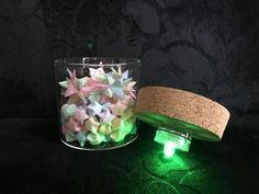 glow stick jars #glowjarsforkids Glow Stick Jars, Glow Jars, Glow Sticks, Origami Lucky Star, Origami Stars, Star Night Light, Stars At Night, Star Nursery, Nursery Decor