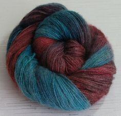 Hand Painted Yarn Hand Dyed Angora Yarn by FashionTouchSupplies