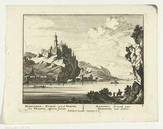 Kasteel Rhenfels aan de Rijn. Pieter Schenk 1695-1705