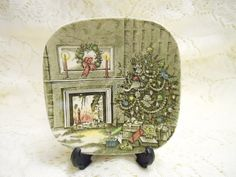 Johnson Bros Small Christmas Scene Candy by CityLimitsVintage