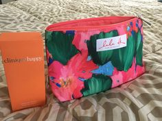 Clinque Happy Perfume- Free Makeup Tote + Goodies!