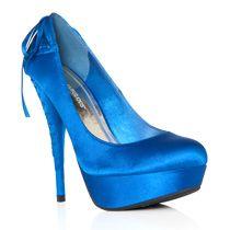Brunella pumps in cobalt blue via JustFab.com
