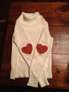 Gap heart elbow patch sweater by Abigailwindsor on Etsy, $38.00