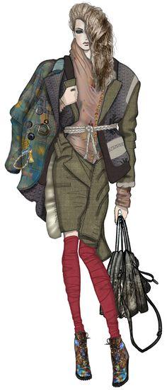 JAA DESIGN original fashion illustration. Illustration Mode, Fashion Illustration Sketches, Fashion Sketchbook, Fashion Design Sketches, Moda Fashion, I Love Fashion, Fashion Photo, Fashion Art, Fashion Figures