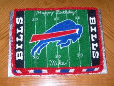 Buffalo Bills - I made this cake for my BIL's friend's 30th birthday, he is obviously a Bills fan.  I copied a poster that I found on the internet.  It turned out very close to the original.