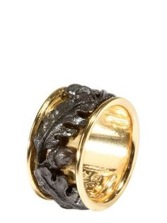 Marco Baroni Acorn Iron Gold Ring Fall Winter 2009 Men Accessories Ring