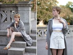 Nelly Chain Necklace, Asos Top, Marie Philippe Coat, Second Hand Shorts, Second Hand Leather Shoes
