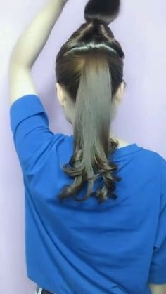 Hairdo For Long Hair, Long Hair Video, Bun Hairstyles For Long Hair, Diy Hairstyles, Front Hair Styles, Medium Hair Styles, Curly Hair Styles, Natural Hair Styles, Hair Style Vedio
