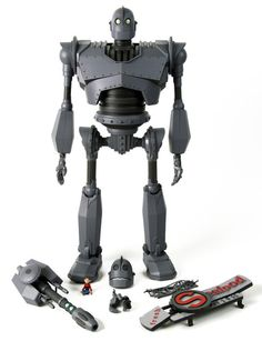 The Iron Giant Deluxe Figure from Mondo is super rad, and I would never buy one for myself.  This is basically a $300 display piece for my basement, but it's such a great movie.  I would never expect any of you to buy this, and I thought they were sold out, but they didn't actually ship these yet.