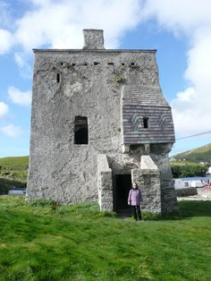 O'Malley's Castle, Clare Island, Co. Mayo.  Home to Grace O'Malley's family, they ruled over the Clew Bay area for centuries, making their living as seafaring merchants.  Grace O'Malley was born here in about 1530. (by Pat McDermott)