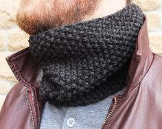 Knit Mens Neck Warmer | Tracing Threads
